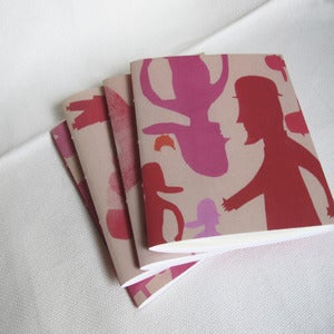 Image of Mr Man and Mme woman spring walk notebooks
