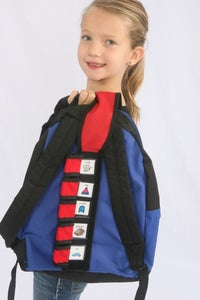 Image of Tag-a-long Book Bag Scheduler- Red with Picture Flaps