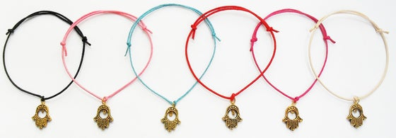 Image of Hamsa Hand Cord Bracelet