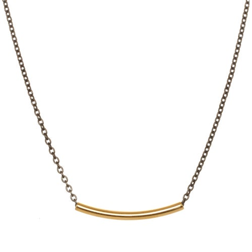 Image of CURVED BAR CHAIN necklace