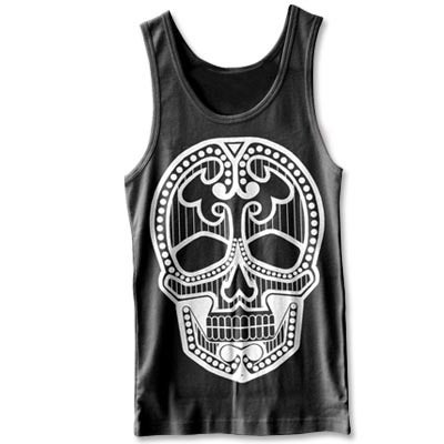 Image of SUGAR SKULL || Black Tank Top