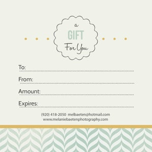 Image of Gift Certificate (starting at $25.00)