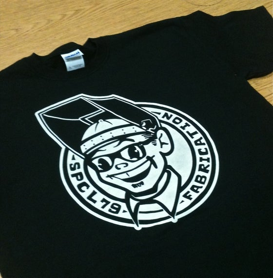 "Image of SPCL'79 Fabrication ""welder guy"" t-shirt"