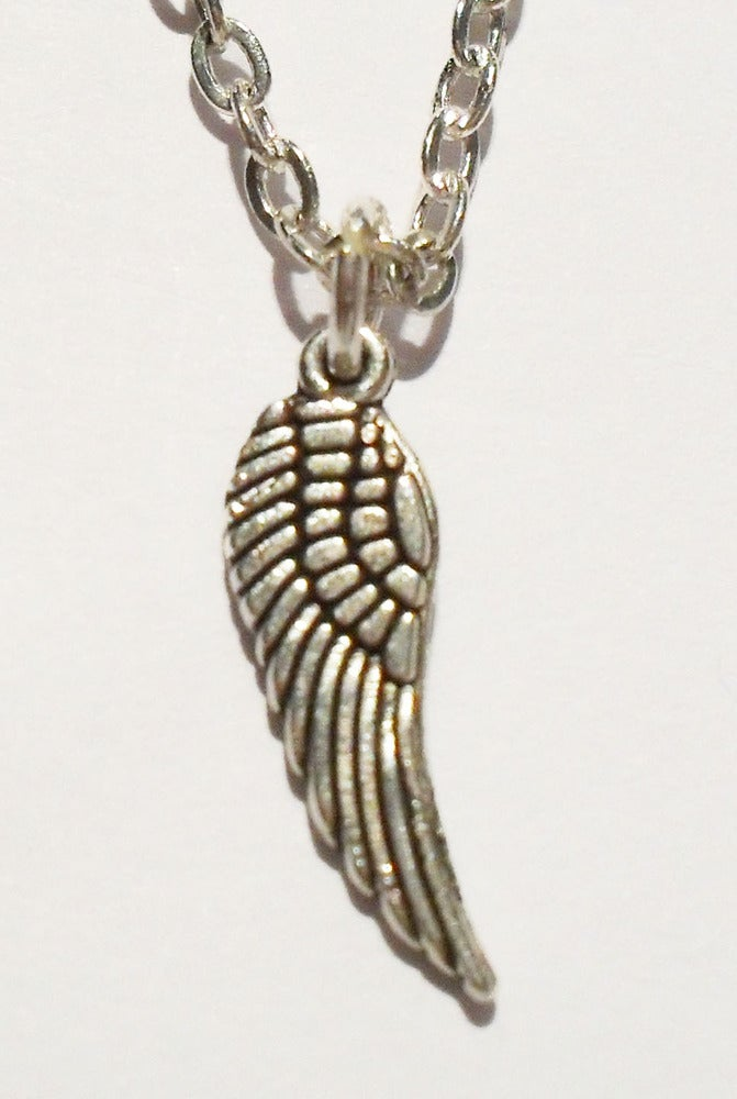 Image of Cute Mini Angel Wing Charm Necklace
