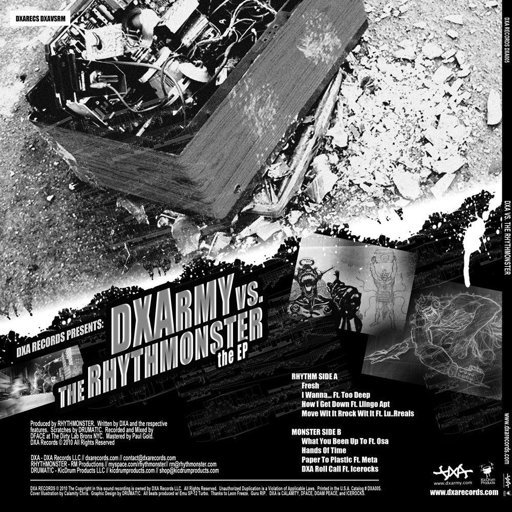 Image of DXA - DXA vs The Rhythmonster EP // CD