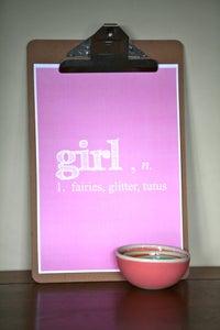 Image of girl, n. PRINT