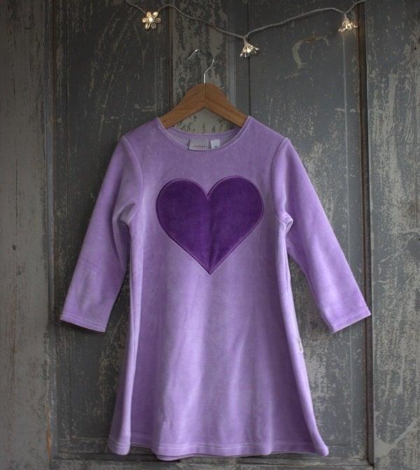 Image of Juliet Velour Dress - Purple