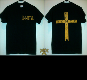 Image of Immrtvl Mcmxc Cross Tee