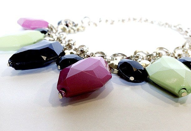 Image of Neon Disco Gem Necklace