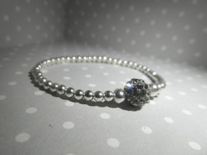 Image of Silver Shamballa bead bracelet