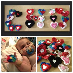 Image of Crochet heart pins <3