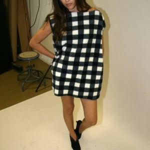 Image of BLACK & WHITE BUFFALO CHECK DRESS