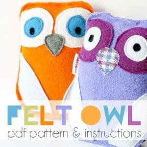 Image of Felt Owl PDF Pattern & Instructions