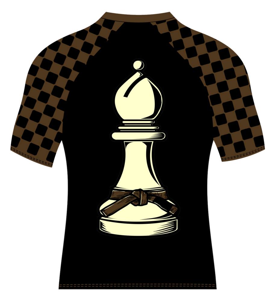 Image of Super Chess Ranked Rashguard Short Sleeve (BROWN)