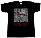 Image of Subscape Word Search Black Mens T-shirt
