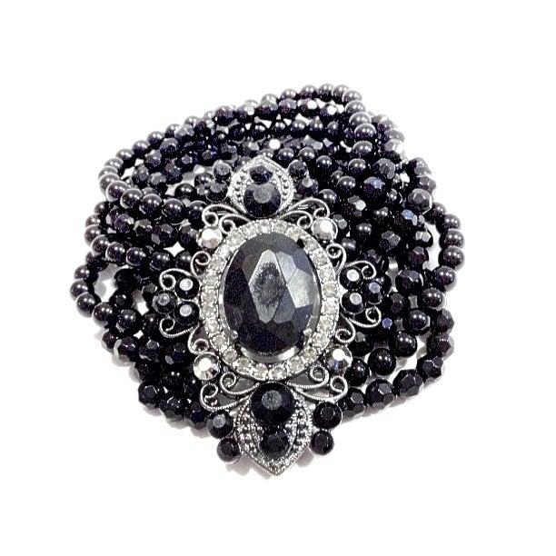 Image of Statement Black Bead Bracelet