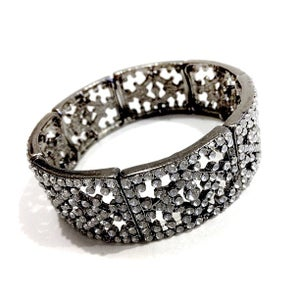 Image of Exclusive Gunmetal Diamante Bracelet