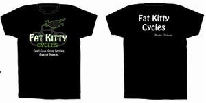 Image of Fat Kitty Cycles T Shirt