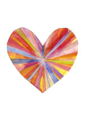 Image of Rainbow Heart Print