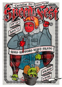 Image of SPEED FEST 2013 LIMITED EDITION POSTER