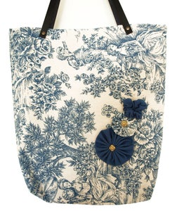 Image of TOTE BAG VINTAGE BLUE