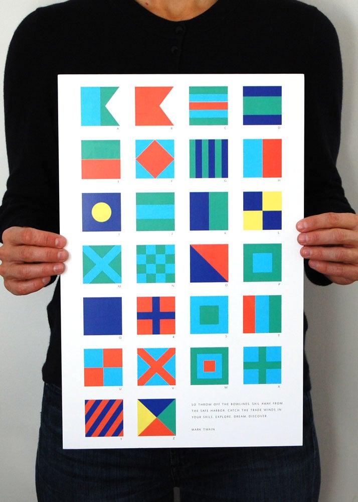 Image of Alphabet Flags - Bright