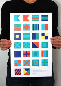 Image of Alphabet Flags - Bright