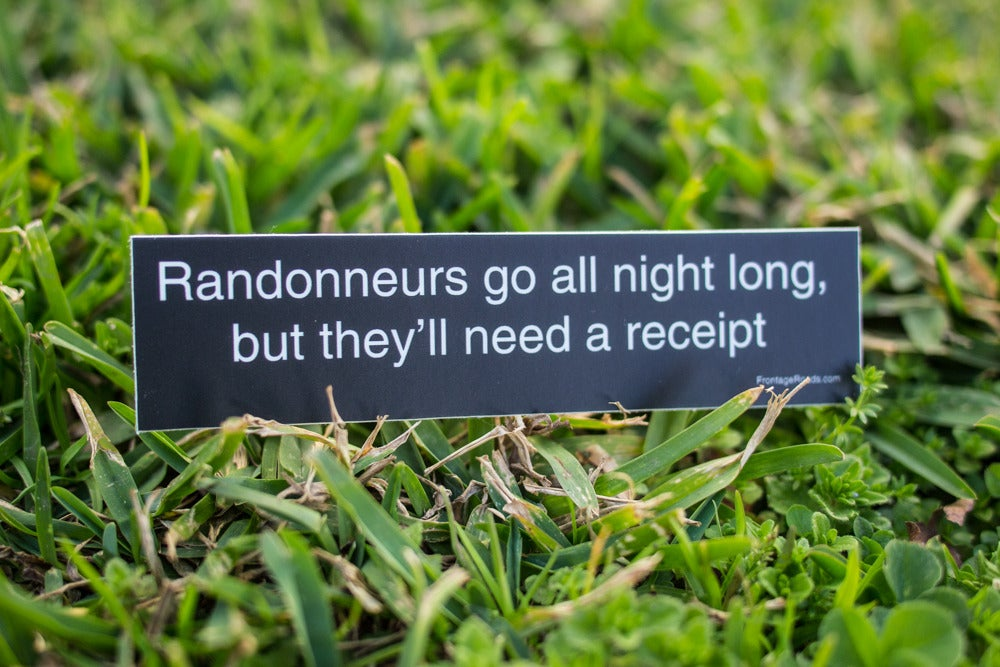 Image of Randonneurs Go All Night Sticker.