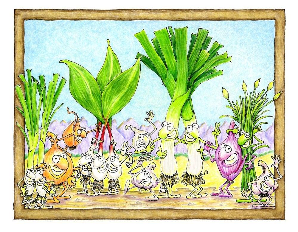 """Image of """"Portrait of the Allium Family"""""""