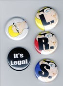 Image of L.R.S. Records Button Pack