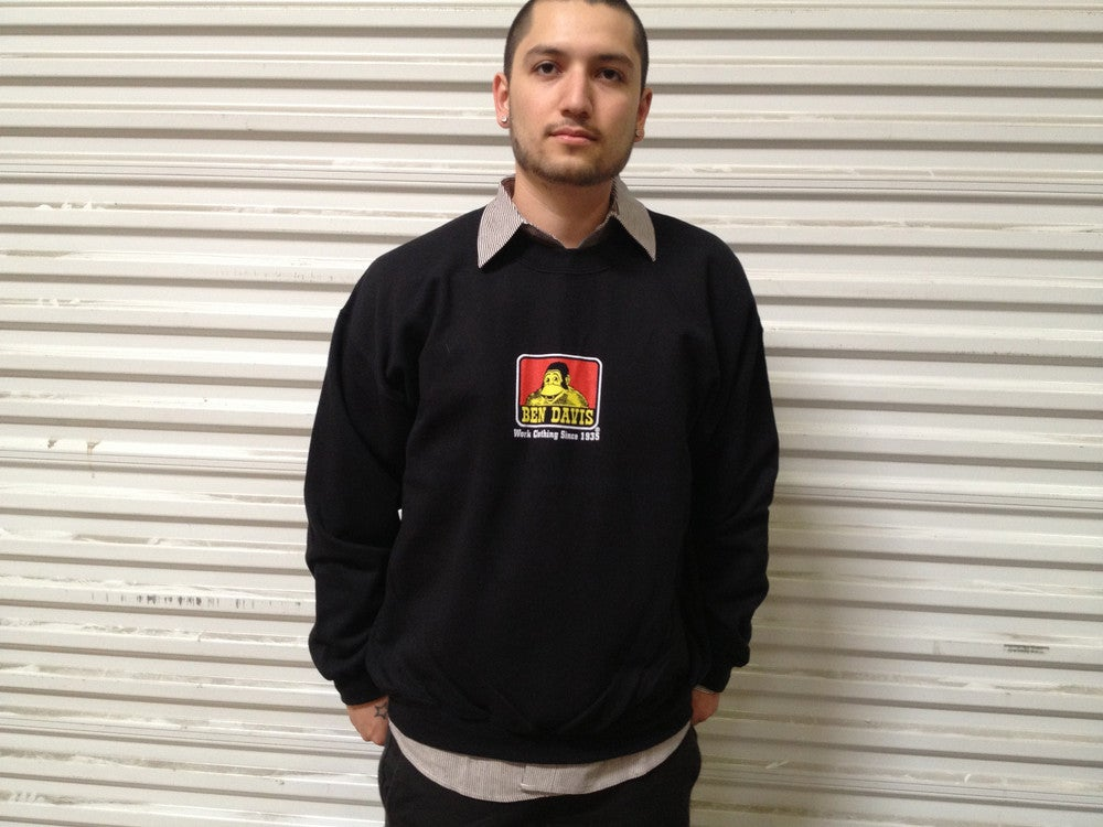 Image of Ben Davis Crew Neck Logo Sweatshirt NO HOOD #9035