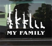"Image of ""My Family"" of Guns Decal"