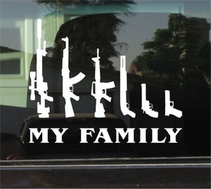 """Image of """"My Family"""" of Guns Decal"""