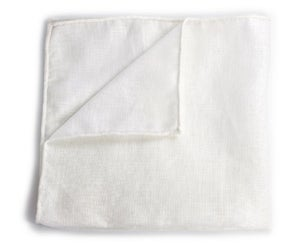 Image of The essential white linen pocket square