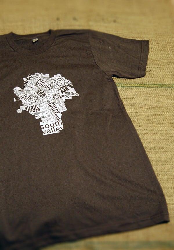Image of unisex city map T-shirt