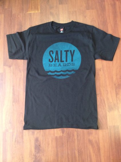 Image of Saltee Aqua- Black Tee