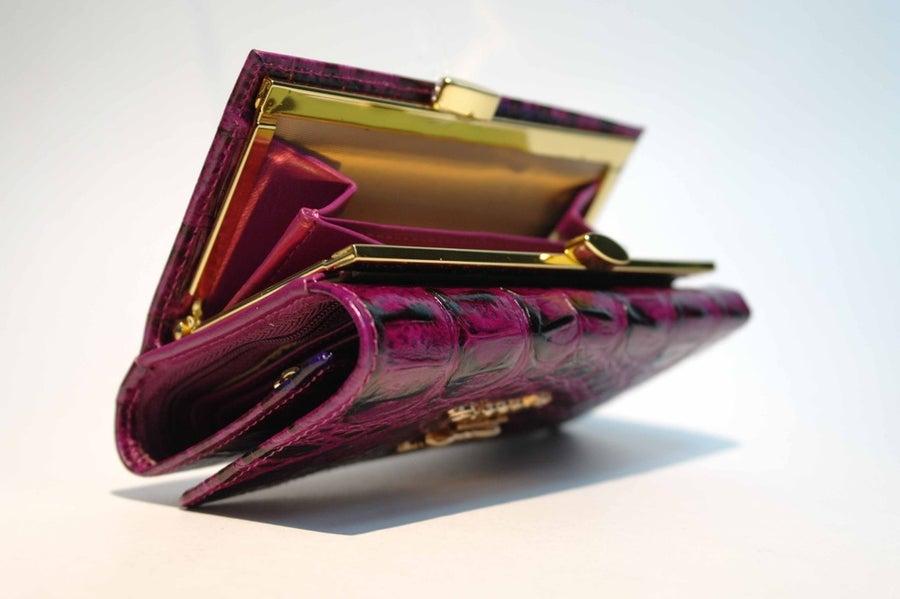 Image of Crocodile grain leather purse [CK2033]