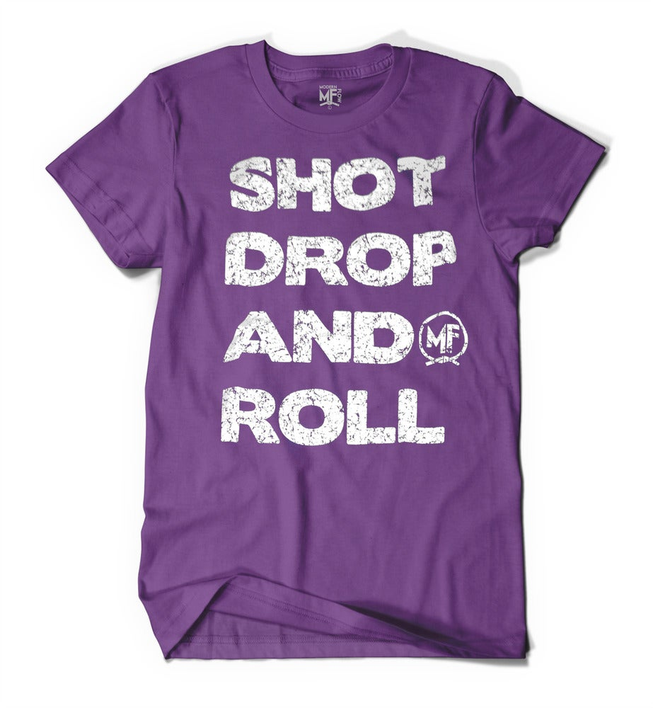 Image of Shot Drop and Roll Tee Purple