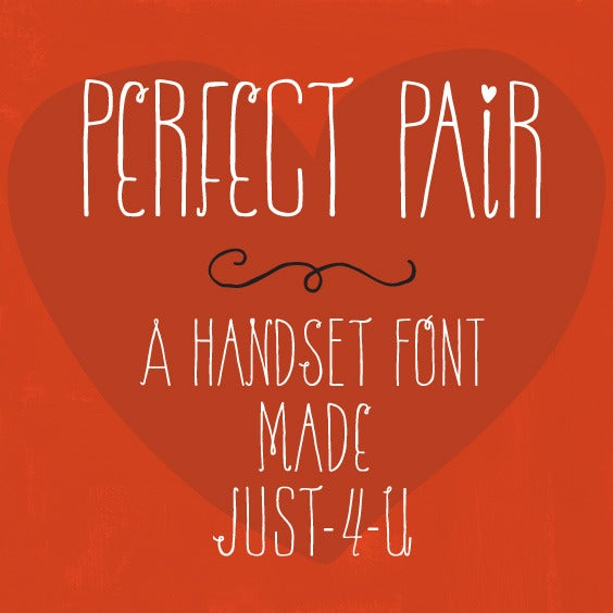 Image of Perfect Pair Handset Font