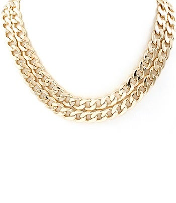 Image of Double Chain Link Necklace
