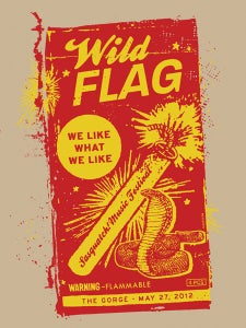 Image of Wild Flag Poster 2012
