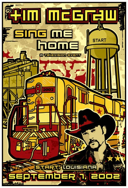 Image of Tim McGraw Sing Me Home Poster 2002