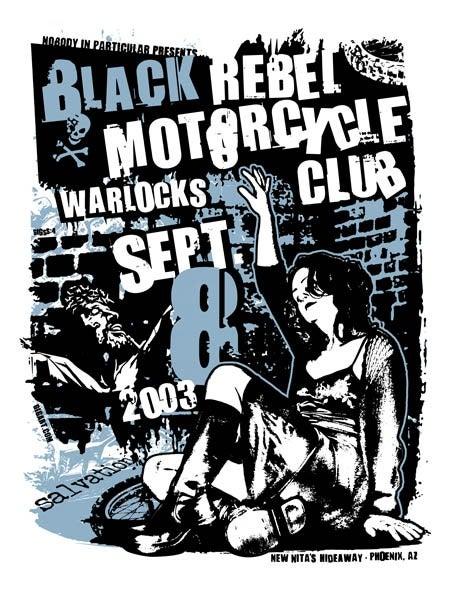 Image of Black Rebel Motorcyle Club Poster 2003