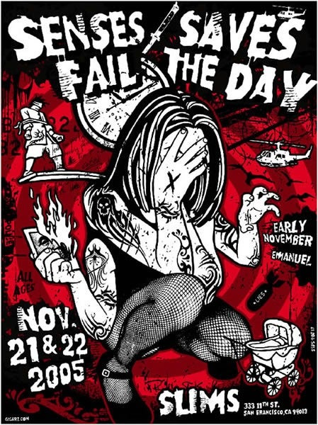 Image of Senses Fail, Saves The Day Poster 2005
