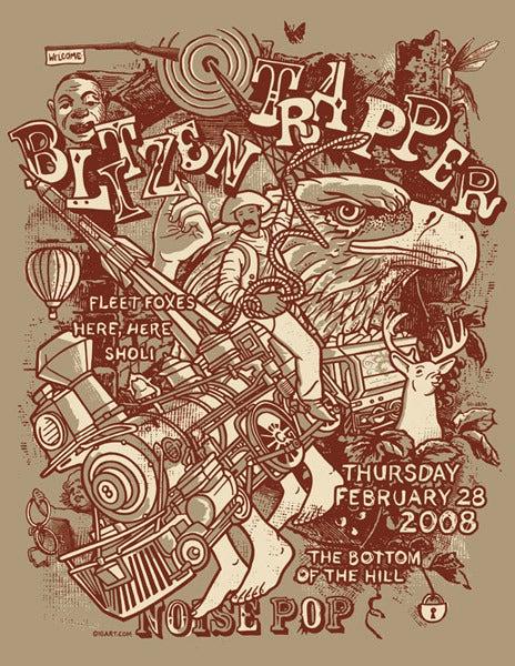Image of Blitzen Trapper, Fleet Foxes Noise Pop Poster 2008