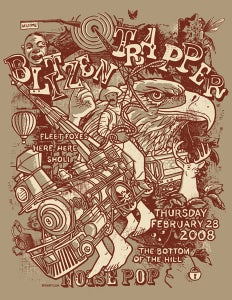 Image of Blitzen Trapper, Fleet Foxes Noise Pop Poster 2008