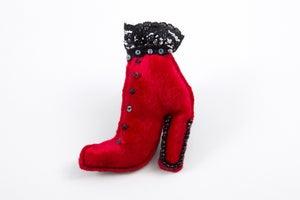 Image of Velvet Shoe Brooch