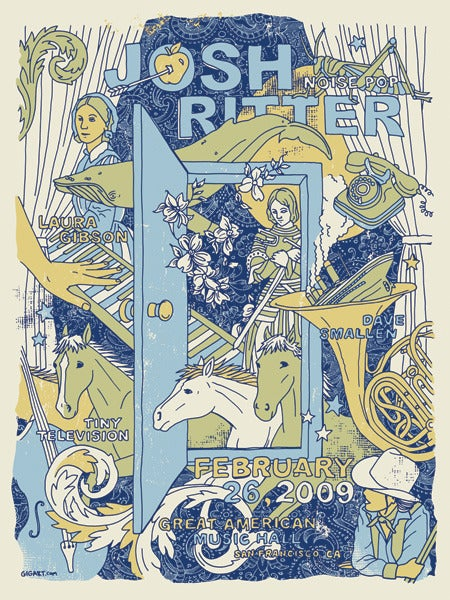 Image of Josh Ritter Noise Pop Poster 2009