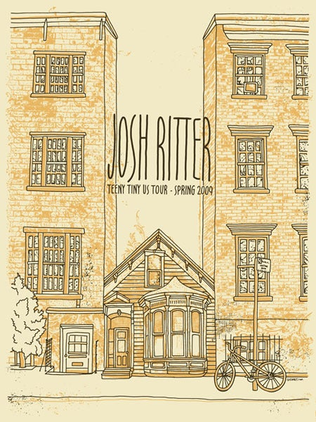 Image of Josh Ritter Teeny Tiny Tour Poster 2009