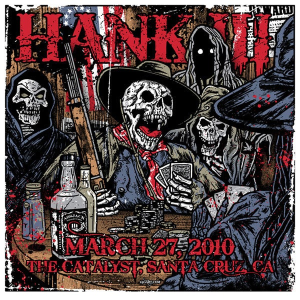Image of Hank Williams III Poker Poster 2010